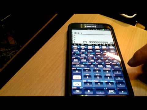 droid48 - HP 48 Scientific Calculator Emulator - Reverse Polish Notation