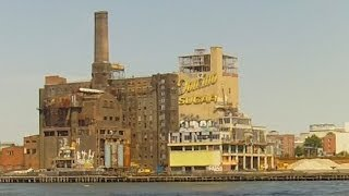 Domino Sugar Refinery In Brooklyn, Seen From East River