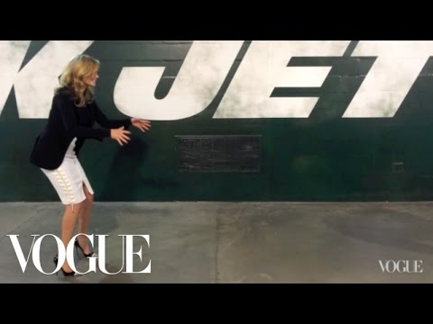 Behind the Scenes with Kate Upton at MetLife Stadium  - Vogue