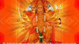 Hanuman Shlokas (Buddhir Balam, Manojavam Maruti)