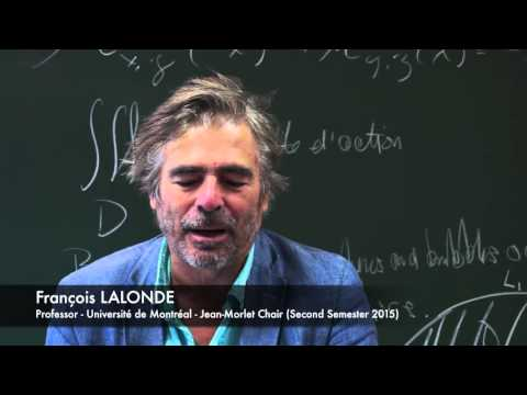 Interview at CIRM: François Lalonde