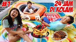 24 JAM MAKAN DI DALAM KOLAM RENANG DEPAN RUMAH - Part 1 | Vlog & Drama Lucu | CnX Adventurers