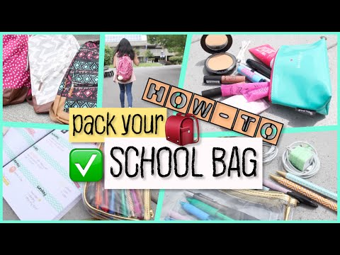 How-To: Pack Your School Bag | School Essentials and Supplies
