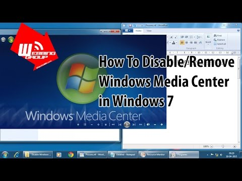 How To Disable Windows Media Center