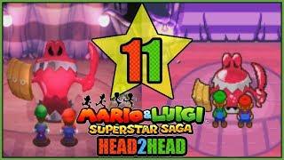CHUCKOLA RESERVE! 3DS VS GBA Mario and Luigi Superstar Saga Head 2 Head Part 11 - DarkLightBros