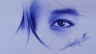 Cách vẽ mắt bằng bút bi _  How to draw eyes with ball pen_ DP Truong