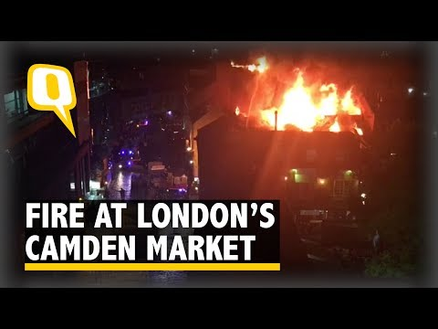 Fire breaks out at London's popular Camden Lock Market - The Quint