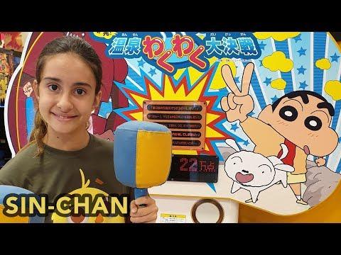 VISITO A SHIN-CHAN En Su Pueblo. Juegos De Shin-Chan En Japón.