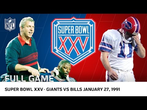 "Super Bowl XXV | Bills vs. Giants ""Wide Right"" (FULL GAME) 