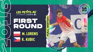 #2 Mikolaj LORENS vs Kristian KUBIK  - 1er tour tableau final - Les Petits As 2016