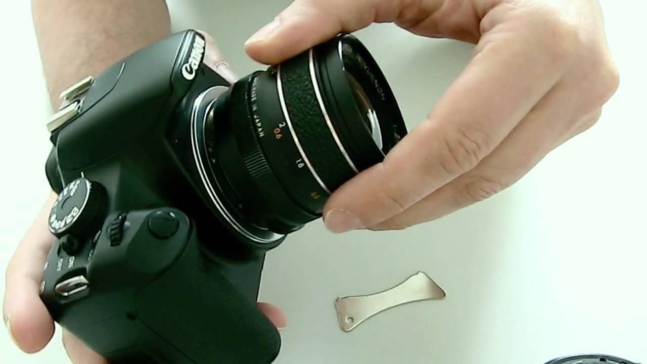 Khalia-Foto AF Hilfslicht Adapter M42 Objektive an Canon EOS