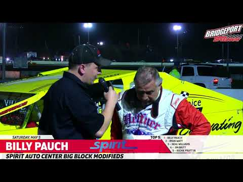 Billy Pauch Wins!  60th Career Bridgeport Win