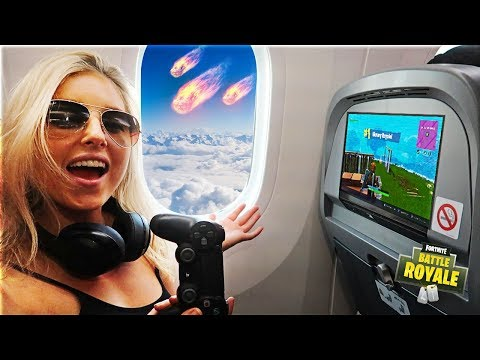 My Girlfriend Won A Game Of Fortnite On An Airplane
