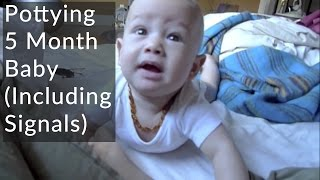 Elimination Communication: Pottying 5 month baby, including signals