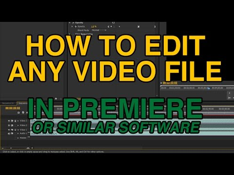 """""""File not supported"""" Solution without converting - Adobe Premiere or similar software"""