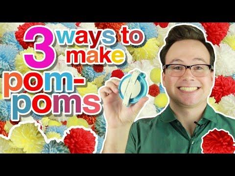 3 Easy Ways to Make Pom-Poms with Yarn