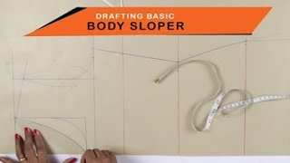 Lesson 2 - How to make a simple Kurti/dress - drafting pattern on paper (body sloper) - easy DIY