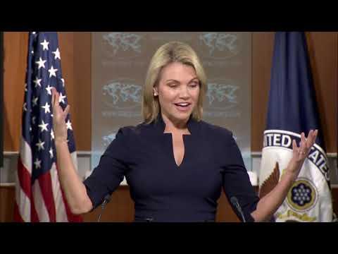 Heather Nauert US State Department Press Briefing On North Korea Threat & President Trump News