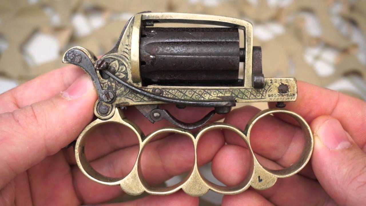 apache knuckle duster pepperbox antique french revolver overview