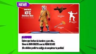 Nuevo PACK con SKIN GRATIS que REGALA FORTNITE a SUS JUGADORES! PACK KFC | Fortnite