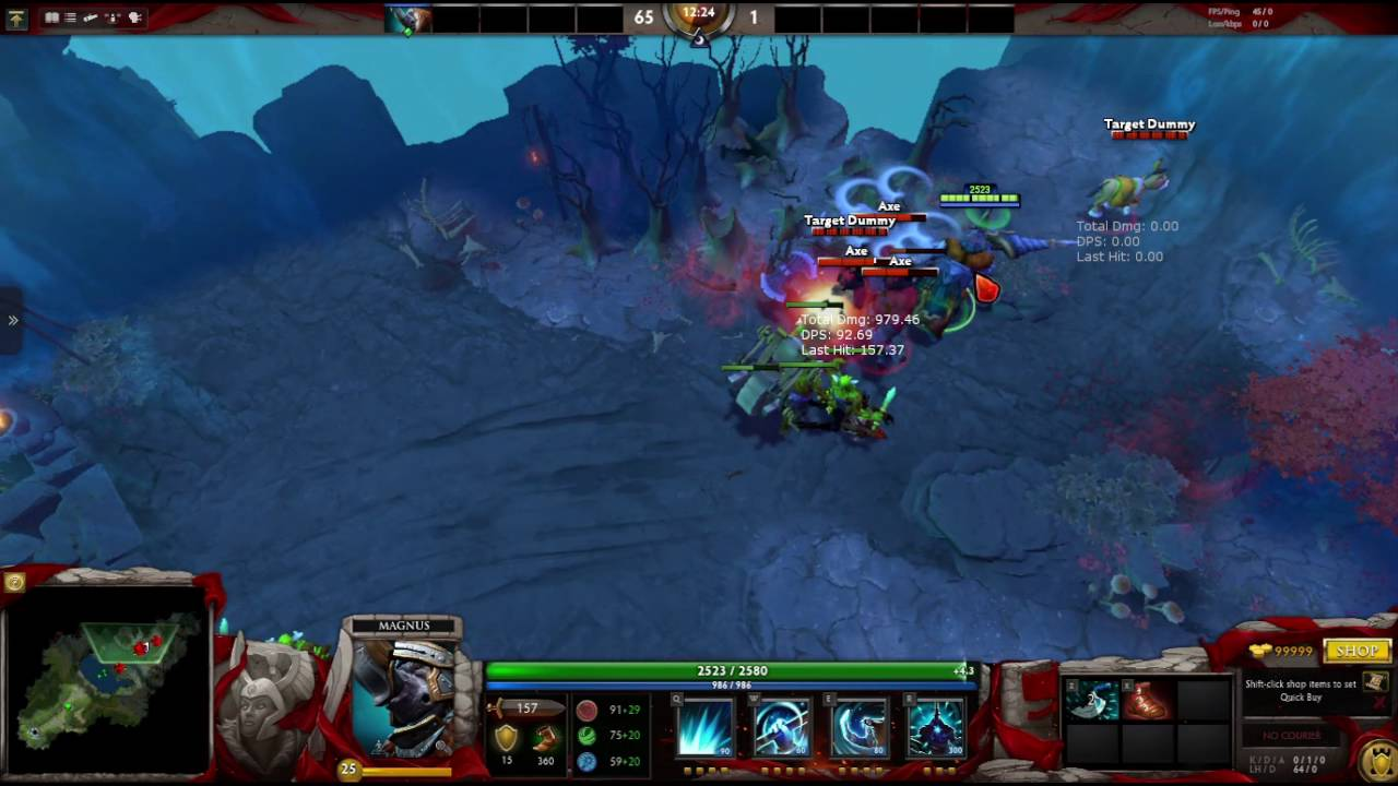 dota 2 how to move the target dummy in demo mode youtube