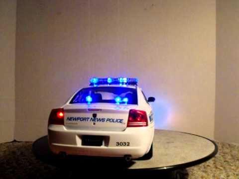 Dodge Police Car >> 1/18 Newport News Virginia Police Dodge Charger Custom model Car W/ Lights - YouTube