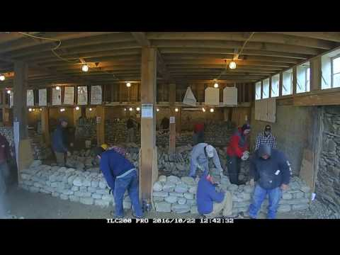 Dry Stone Wall: One Day Indoor Workshop TIme Lapse