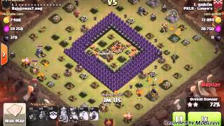 Quad Lavaloon TH 10 Attack - Clash Of Clans