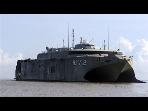 Yemeni forces destroy UAE military vessel - HSV-2 Swift