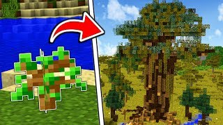 HOW TO MAKE AN INSTANT TREE HOUSE IN MINECRAFT!