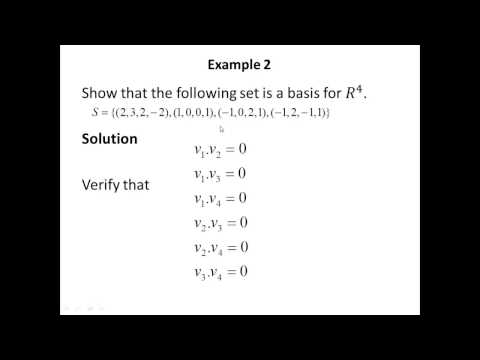Lecture 26 Orthonormal Bases: Gram-Schmidt Process