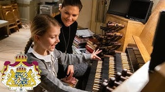 Prinsessan Estelle bekantade sig med Storkyrkans orgel