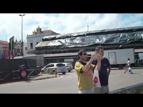 Lazer da caravana volvo no porto de Manaus/zona franca