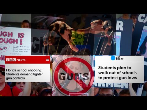 REAL Reason For Student NRA Protest and Gun Control Walk out! We Need to Wake Up