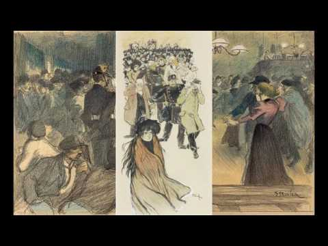 Theophile Steinlen 塞菲爾··施泰因倫  (1859 - 1923) Art Nouveau French