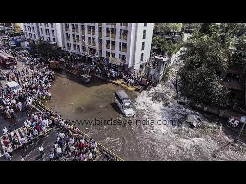 Dandekar bridge दांडेकर पूल Pune | Flood like situation | Canal wall burst | Drone shots