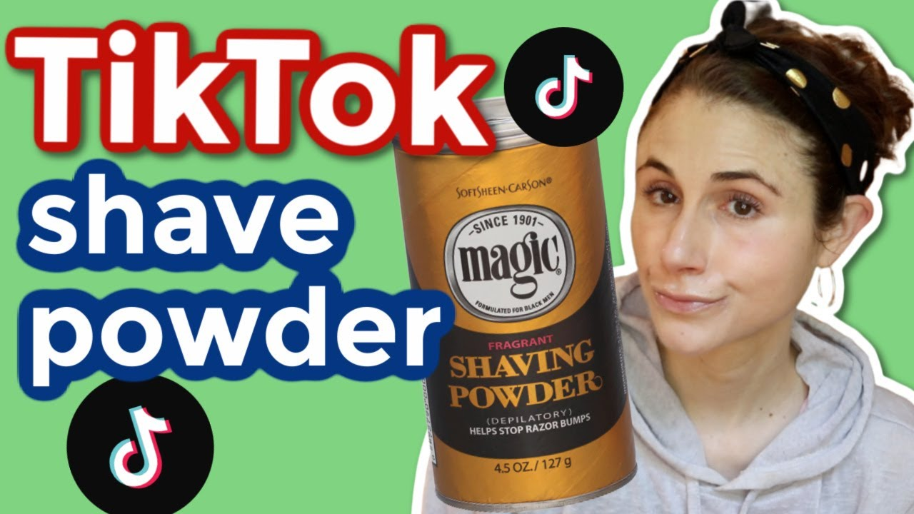 Tiktok Magic Shaving Powder Dermatologist Reviews Dr Dray Youtube