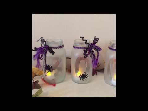 How To: Glass Etching Halloween Jars