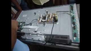 TV LCD Samsung com tela apagada. Procedimentos para reparo.