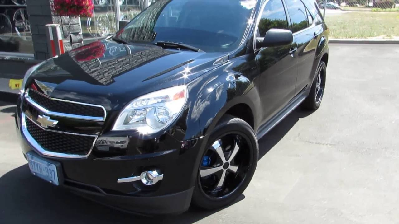 Equinox black chevy equinox : 2014 CHEVROLET EQUINOX RIDING ON CUSTOM 20 INCH BLACK RIMS ...