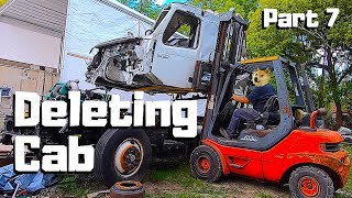 Rebuilding The 2019 VOLVO VNL Semi Truck CRAZY WRECKED | Cab Removal | PART 7 |