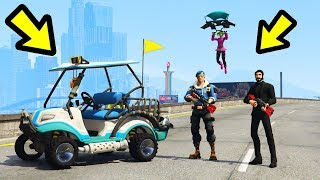 Playing FORTNITE in GTA 5!! (Characters, ATK & More)