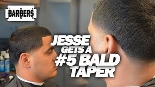 HOW TO: Bald Taper #5 On Top / Skin Taper / Blow Out | Men