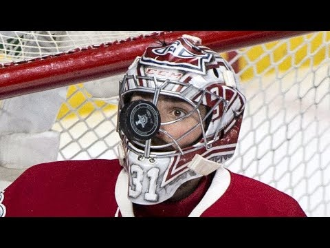 NHL Goalies Pucks to the Mask