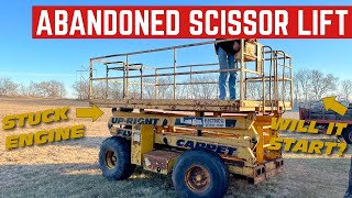 Starting An ABANDONED And STUCK Scissor Lift ENGINE After 5 YEARS OUTSIDE