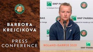 Barbora Krejcikova Press Conference after Quarterfinals I Roland-Garros 2021