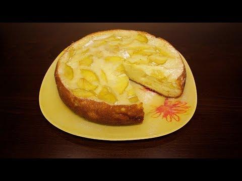 Яблочный пирог со сметаной в мультиварке рецепты
