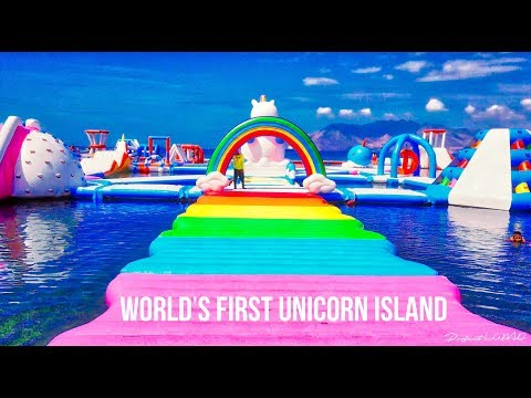 World's First Unicorn Island at Inflatable Island Subic 4K