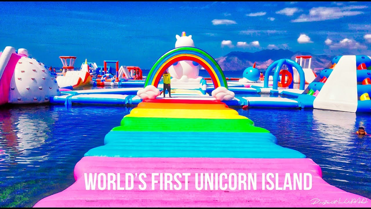 World S First Unicorn Island At Inflatable Island Subic 4k Youtube
