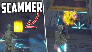 Scammer Obtient SCAMMED ou at-il?! Qui est l'escroc ACTUAL? - Fortnite Save The World